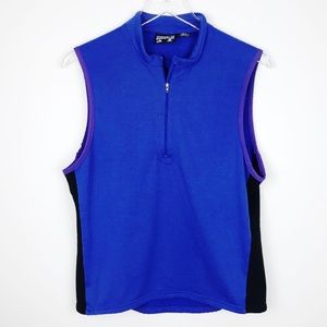 Patagonia Royal Blue And Black Half Zip Vest M